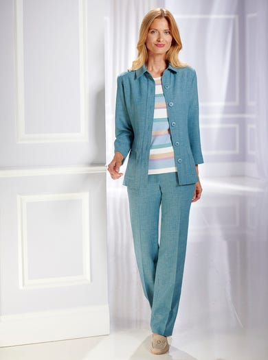 5802 - Seagrass - Uncrushable Linen-Look Jacket