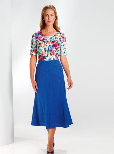 5803 - Cobalt Blue - Uncrushable Skirt