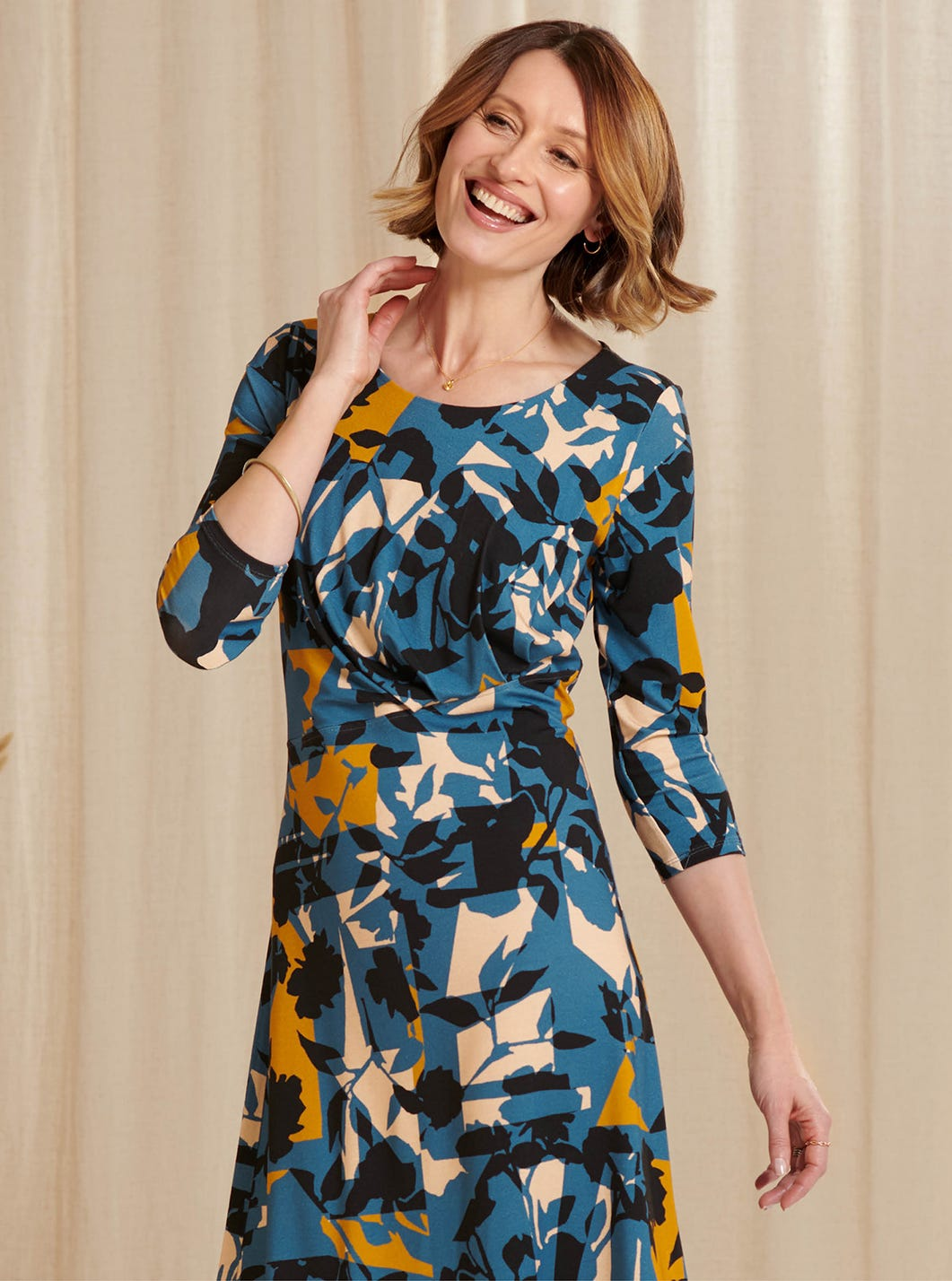 Abstract Jersey Dress