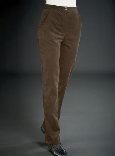 5969 - Olive/Fern - Comfortable Needlecord Trousers