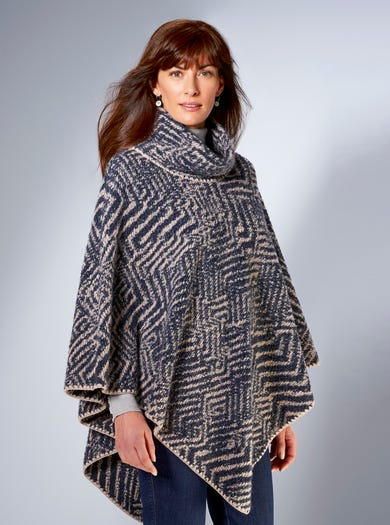 6034 - Denim Blue - Go-anywhere Poncho