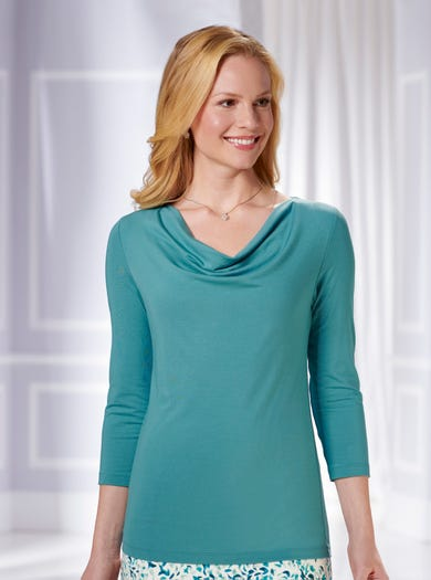 6112 - Lagoon - Stretch Jersey Top