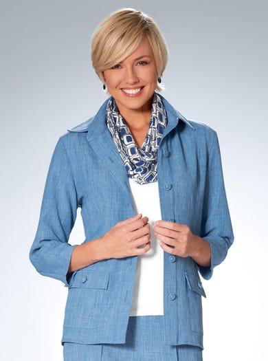 6118 - Blauw - Ronde sjaal