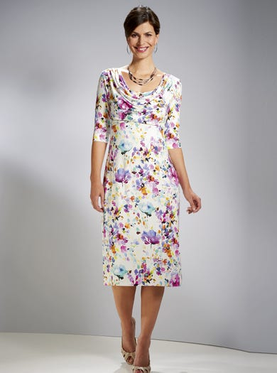 6123 - Secret Garden - Elegant Jersey Occasion Dress
