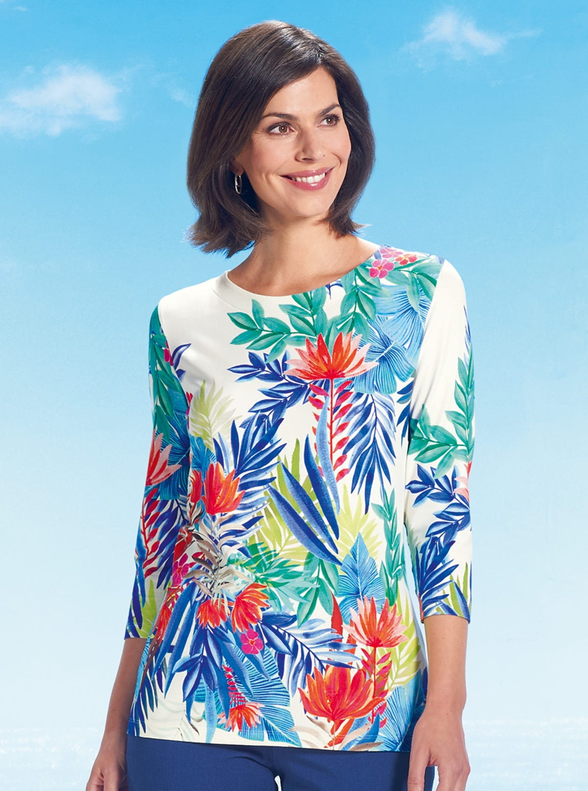 1d9409896a Unmissable Jersey Top - Refreshing Prints - Womenswear