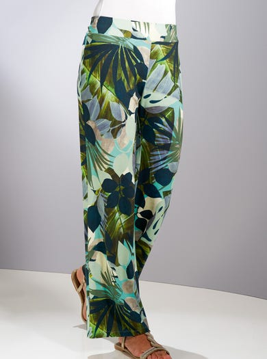 6159 - Everglades - Easy Jersey Palazzo Trousers