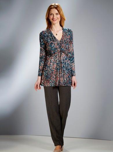 6300 - Thyme - Fine Long Sleeve Tunic