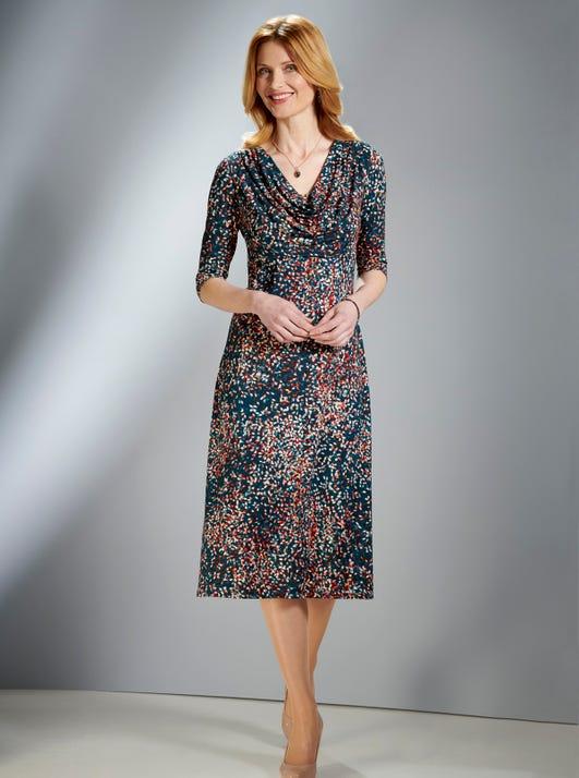 Elegantes Jerseykleid