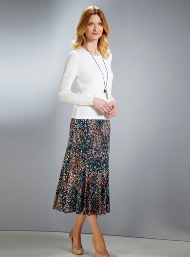 6306 - Thyme - Soft Jersey Skirt
