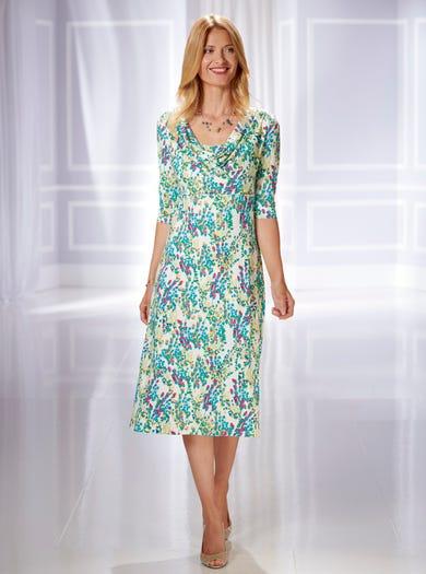 6413 - Mimosa - Robe d'après-midi imprimée