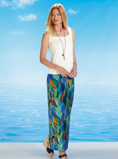 6476 - Laurelei - Easy Stretch Jersey Maxi Skirt