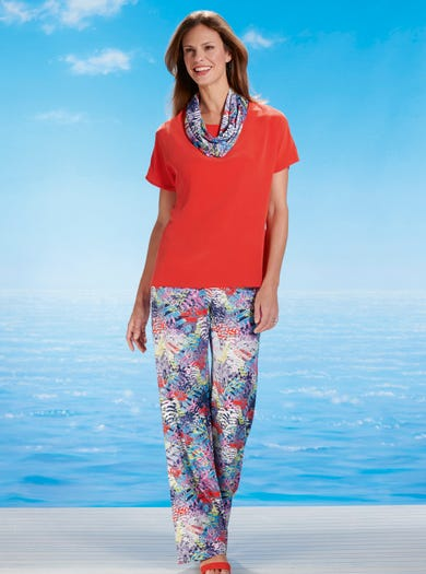 6489 - Cape Verde - Soft Jersey Palazzos