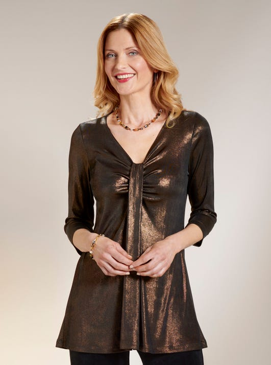 Shimmering Jersey Tunic