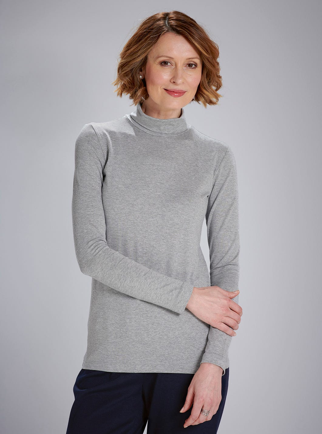 Silky Soft Roll-neck Top
