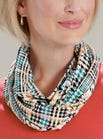 Checked Jersey Infinity Scarf