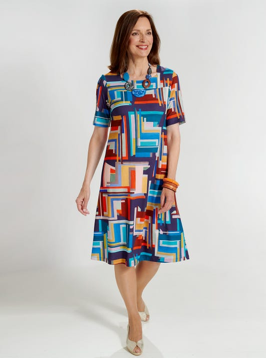 Bequemes Jerseykleid