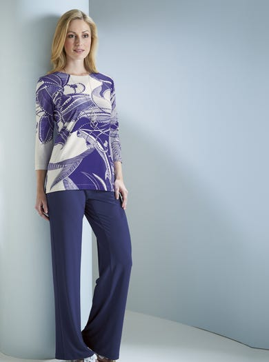 Silky Smart Jersey Trousers
