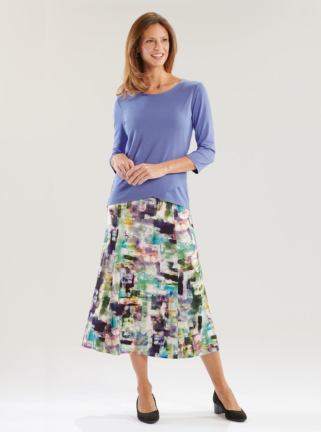 Watercolour Jersey Skirt