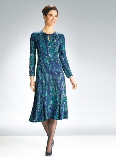 6883 - Blue/Emerald - Soft Jersey Dress
