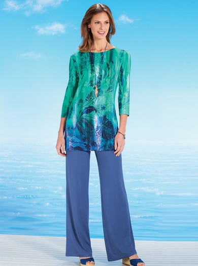 6990 - Paradise/Tropical - Stand-Out Tunic