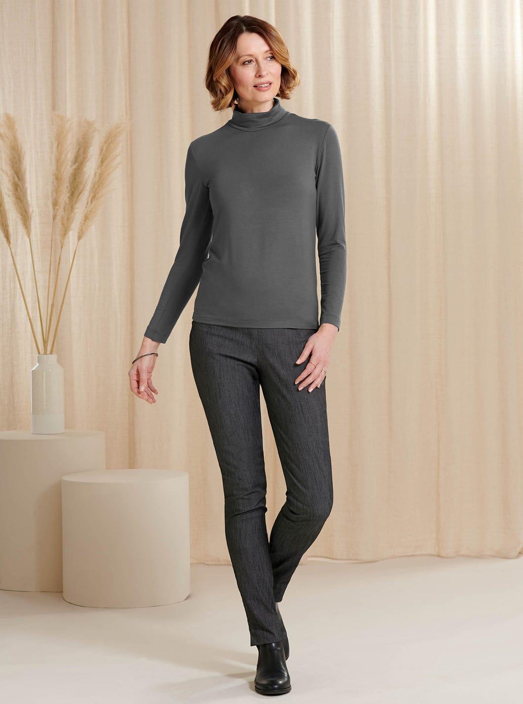 Cotton Slim-Leg Trousers