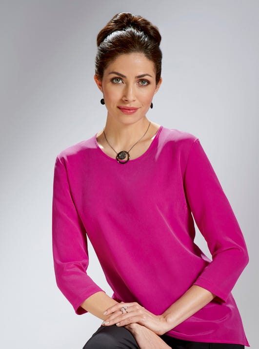 Pure Silk Top in Pink