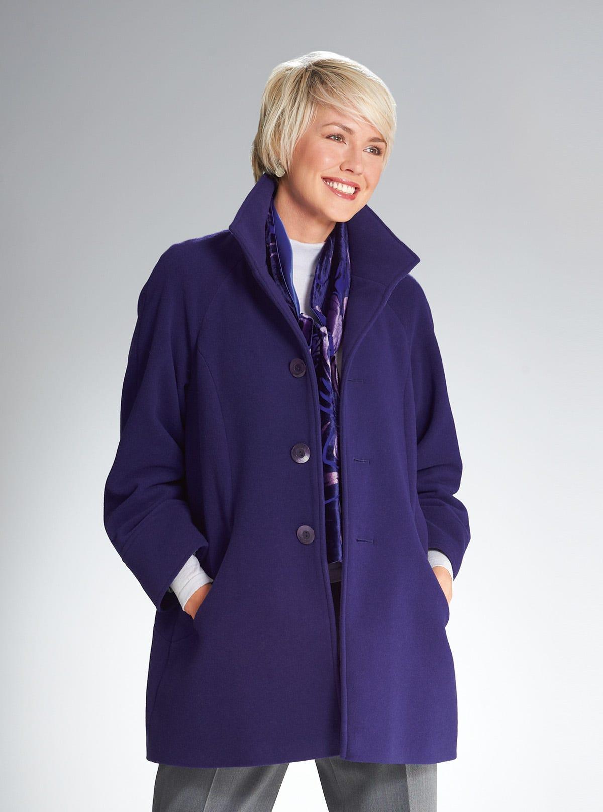 meilleur site couleur n brillante grande vente au rabais Manteau en drap de laine