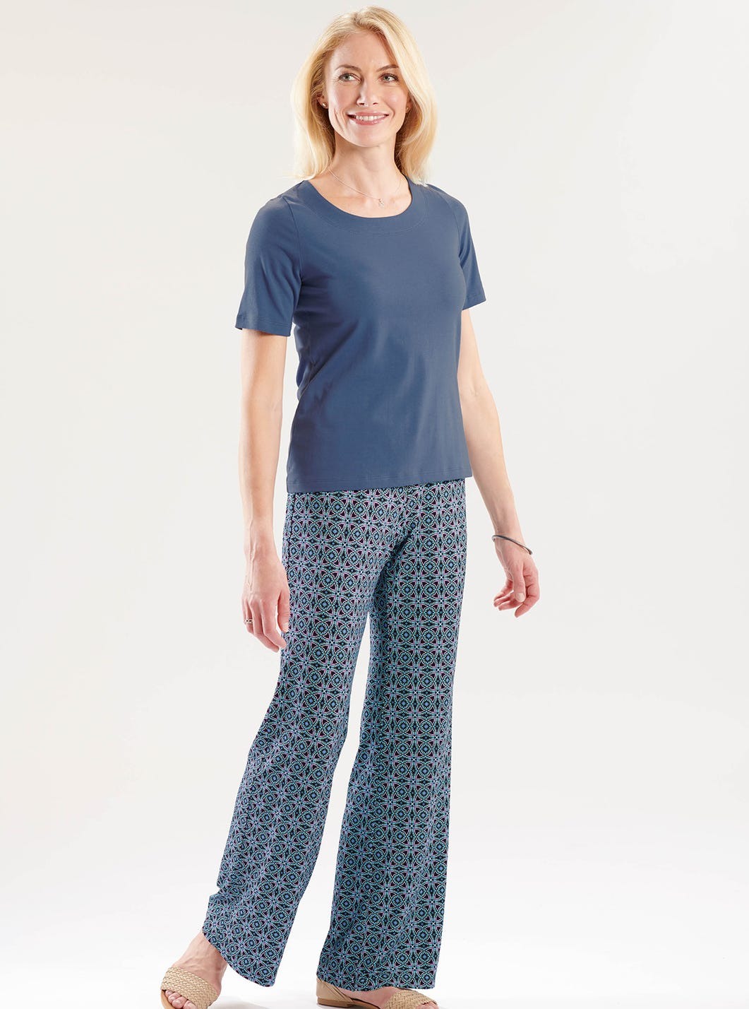 Printed Jersey Trousers