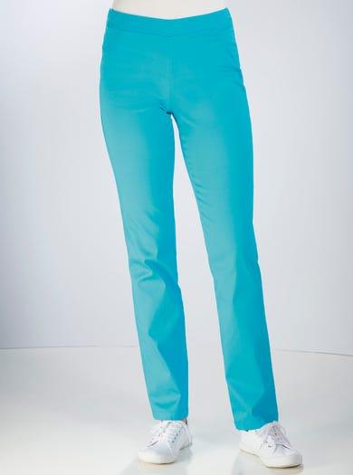 7208 - Aqua - Cotton Sateen Trousers