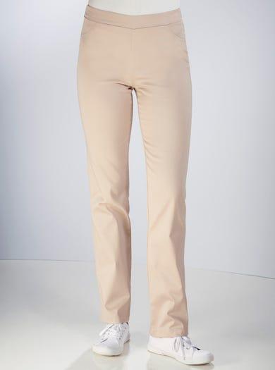 7208 - Sable - Pantalon fuselé décontracté