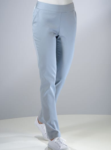 7209 - Blue - Stretch Cotton Trousers
