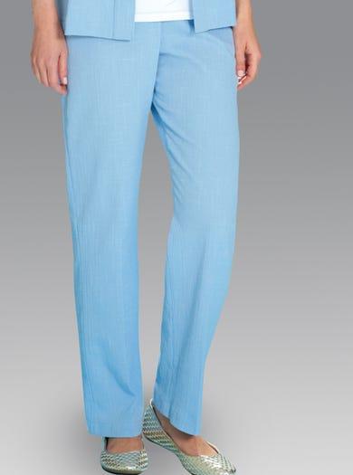 7219 - Bleuet - Pantalon d'été élastiqué en toile Tergal