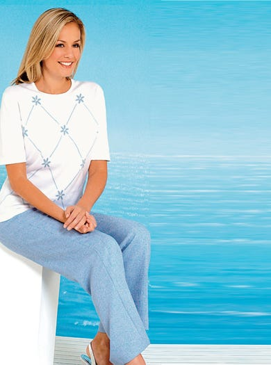 7219 - Cornflower Blue - Comfortable Trousers