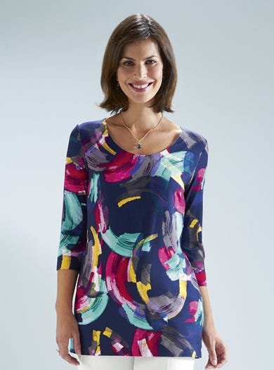 7231 - Brushstrokes - Soft Jersey Top