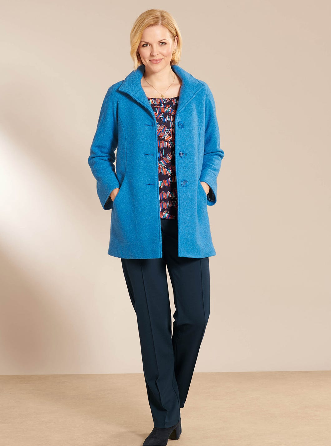 Wool-Rich Relaxed Fit Coat