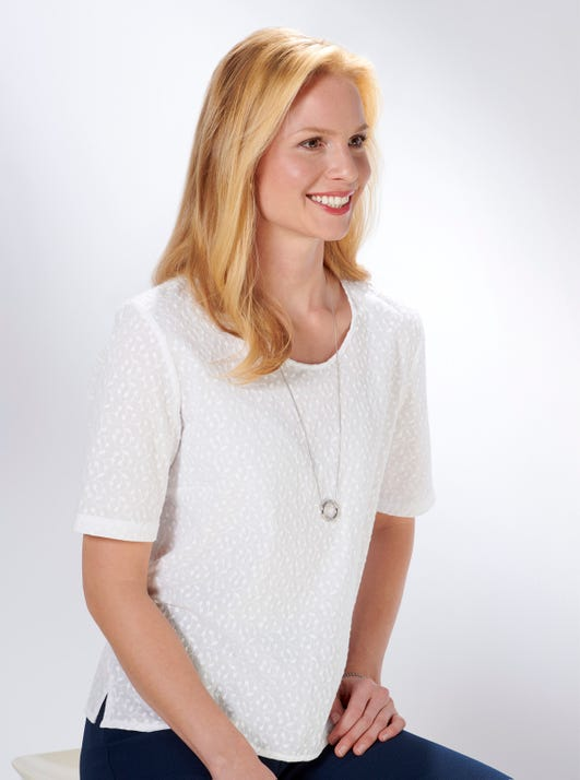 Cotton Broderie Anglaise Top