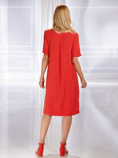 7543 - Watermelon - Luxury Pure Silk Dress