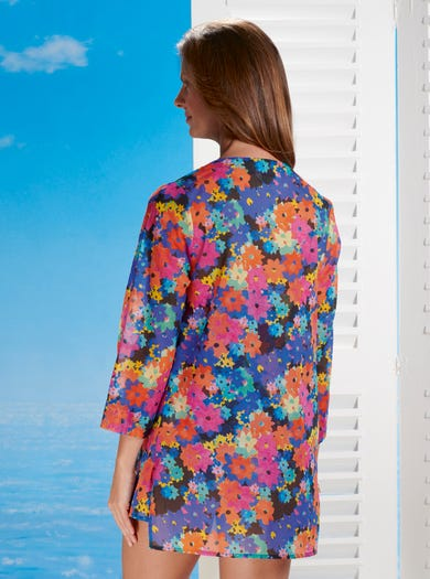 7592 - Fiesta - Delightful Cotton Voile Cover-up