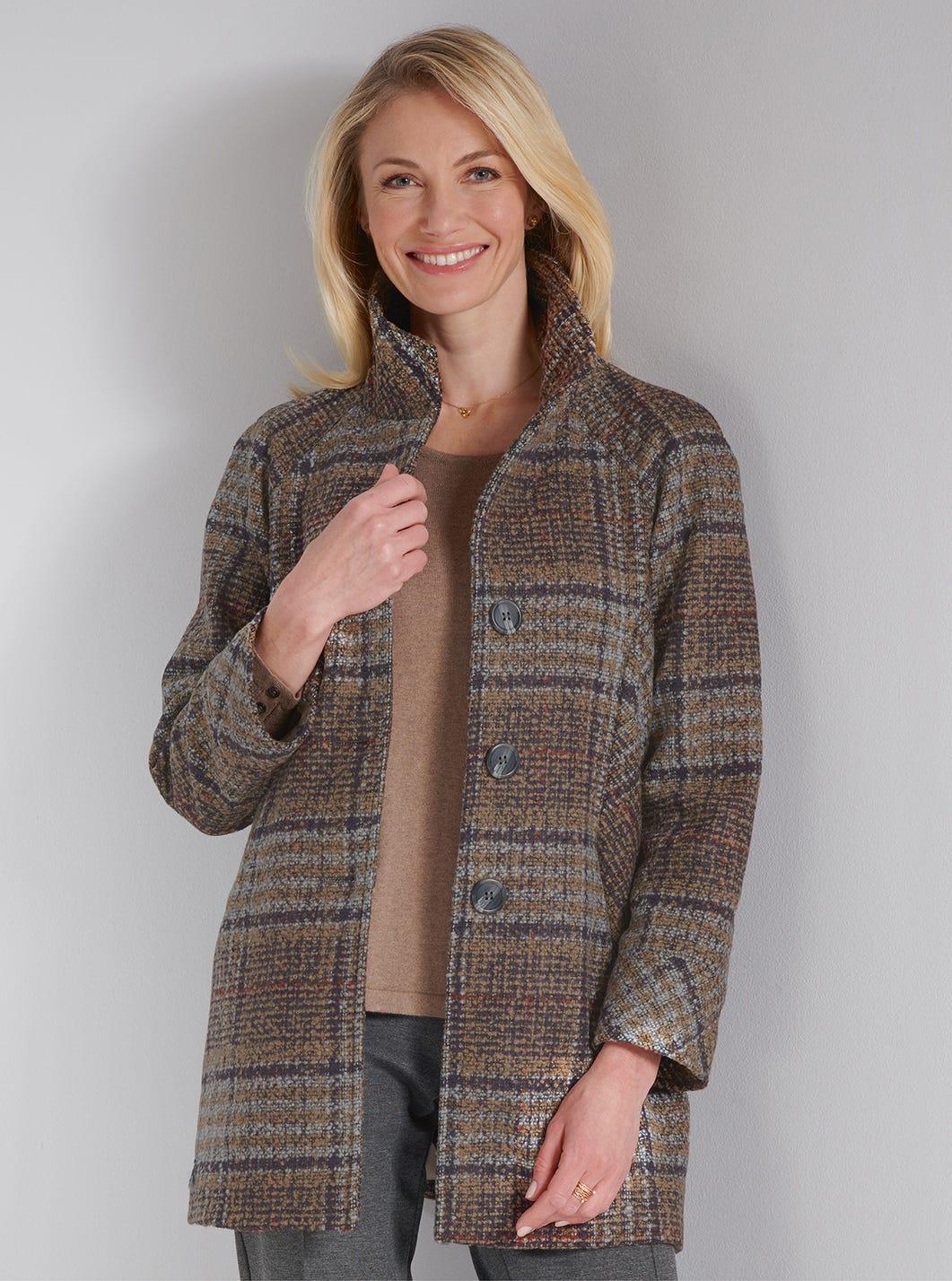 Luxury Tweed-look Coat