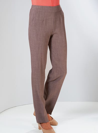 7829 - Truffle - Uncrushable Trousers