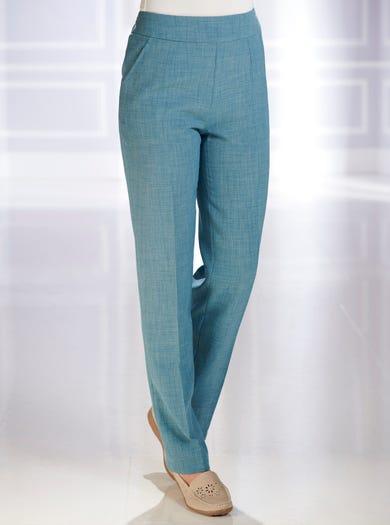 7829 - Zeegroen - Kreukbestendige pantalon