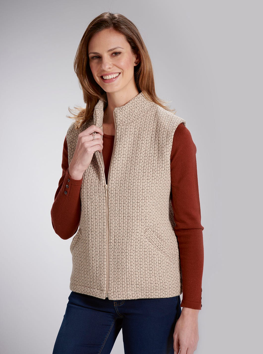 Wool-Rich Textured Gilet