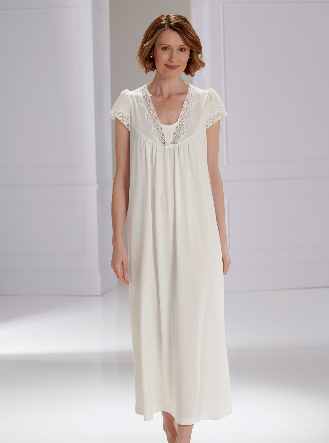 Lace-trimmed Cotton Nightdress