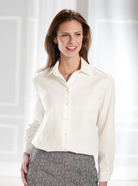 Pure Cotton and Wool Blouse