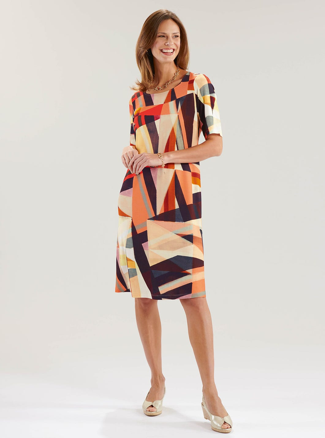 Relaxed Geometric Dress