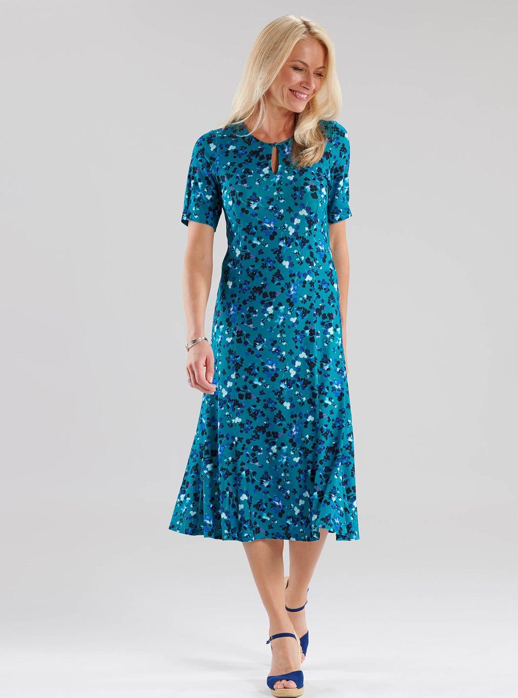Veilchen-Jerseykleid