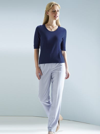 9023 - Silver Grey - Lightweight Michele Trousers