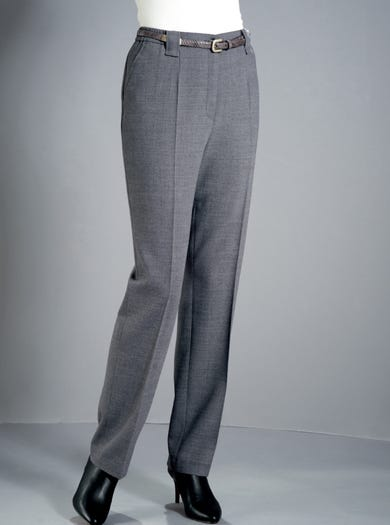 9046 - Charcoal - Michele Comfort Fit Trousers