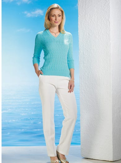 9127 - Aqua - Supersoft Cotton Jumper