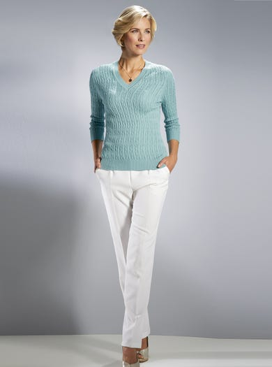 9127 - Sea Green - Supersoft Cotton Jumper